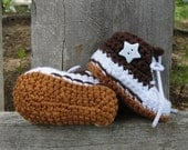 Converse Style Hightops (Chocolate), multiple sizes available