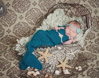 Mermaid Tail and Accessories in Teal