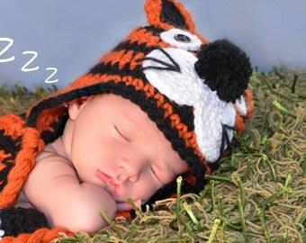 Baby Tiger Hat Photo Prop