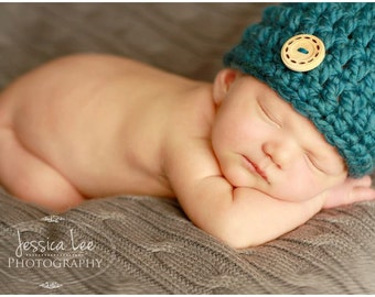 Newborn Crochet Flower Hat