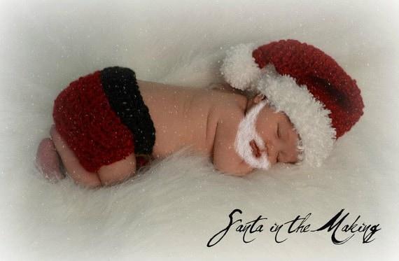 Newborn Santa Suit Photo Prop