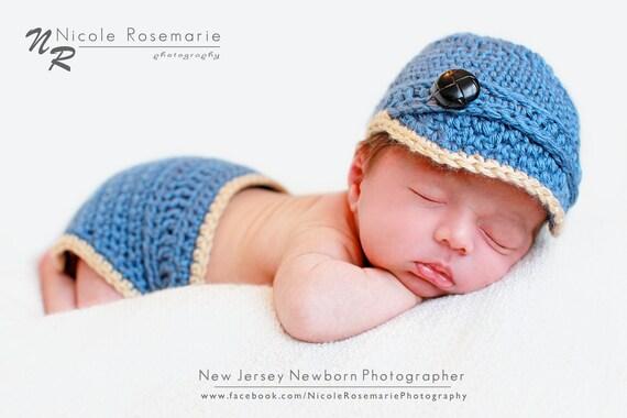 Newborn Brimmed Newsie Hat