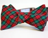 Plaid Holiday Bow Tie