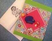 Handmade Hedgehog Card