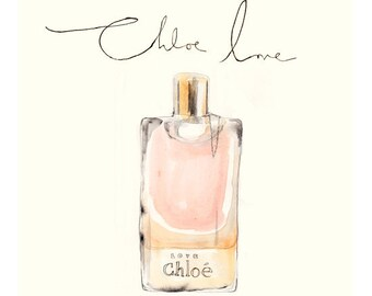 Chloe Love, watercolour illustration, 29x29 cm print