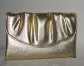 Fancy Metallic Gold Vintage Clutch