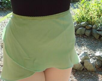 "Ballet Wrap Skirt, Green, 14"""