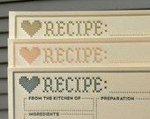 Cross Stitch Recipe Cards - pack of 9