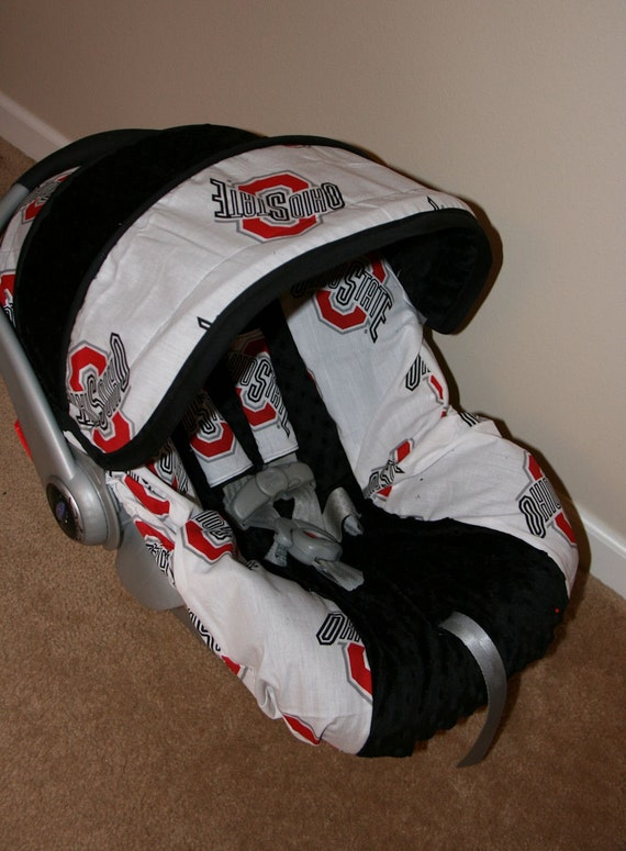reserved for josh ohio state fabric infant car seat cover