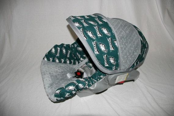 philadelphia eagles boy infant car seat cover custom order. Black Bedroom Furniture Sets. Home Design Ideas