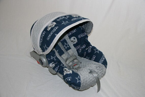 Dallas Cowboys Infant car seat cover - Custom Order Always includes FREE reversible strap covers