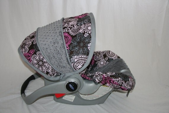 last one michael miller paisley car seat cover by babycovers2010. Black Bedroom Furniture Sets. Home Design Ideas
