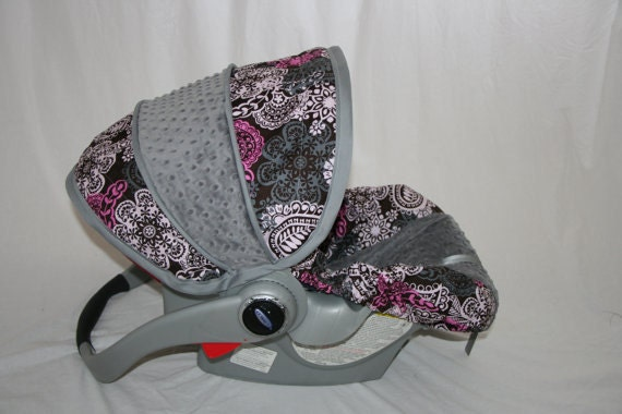 LAST ONE - Michael Miller paisley car seat cover- Infant/Baby car seat cover- Custom Order