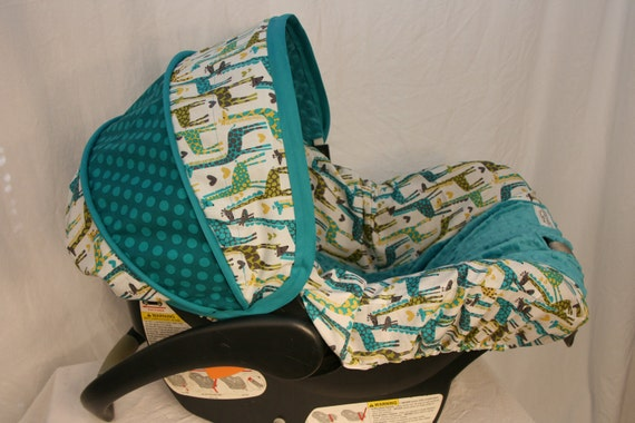Car seat cover Giraffe - Custom Infant Car Seat Cover-  Baby Seat cover