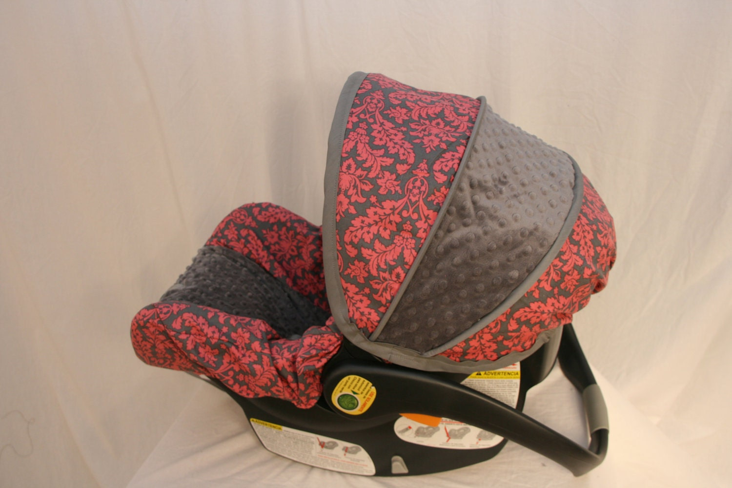 girl damask chicco car seat cover available now entire set. Black Bedroom Furniture Sets. Home Design Ideas