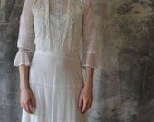 Victorian steampunk white lace dress