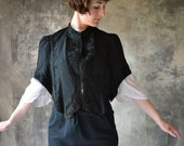 Downton Abbey Black Beaded Jacket/Capelet