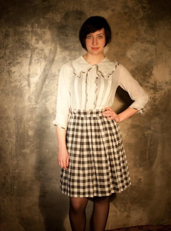 1940's Schoolgirl Checkerboard Dress