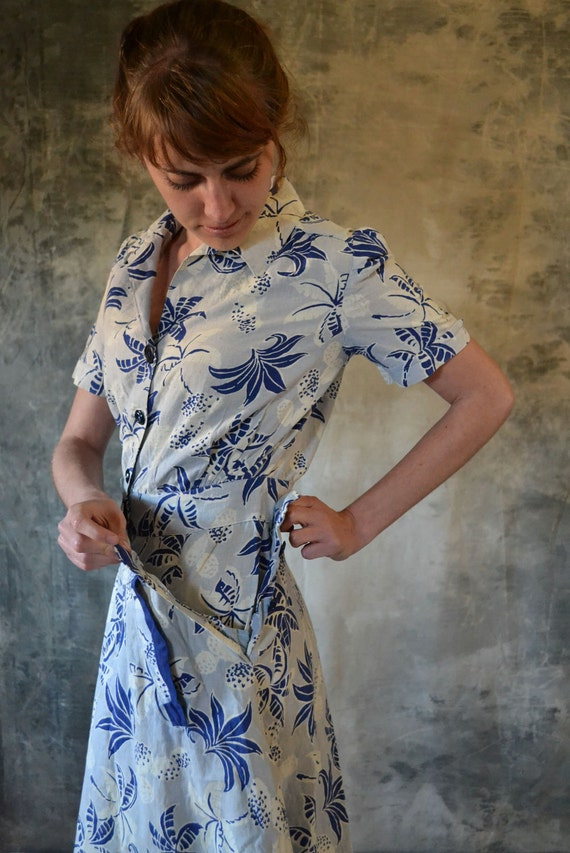 1950's Tropical Romper with Detachable Skirt