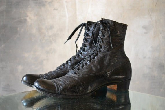 Victorian lace up boots