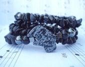 Tabitha - Energy Bracelet  - Black Jasper, Hematite & Black Onyx