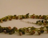 Unikate Necklace with Copper Colored Beads