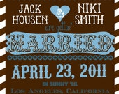 Chocolate Powder Blue Save The Date