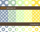 Digital Paper Pack (Set of 15 Papers) for Scrapbooking, card making, invitation, photo cards - Personal and Commercial Use - 100000B