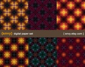 Astral - Digital Paper Pack (Set of 6 Papers) Printable Scrapbook Paper Patterns Set - 100040A
