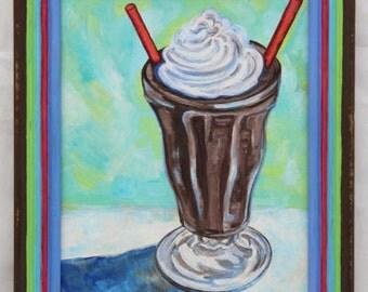 Shake It! Original oil painting, framed