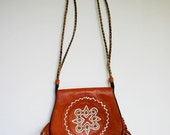 Vintage Fringed Bag 1970s Hippy Chic from the Balearics