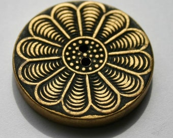 Art Deco Silver and Gold Wooden Buttons 1930's