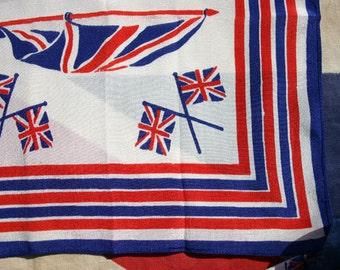 Royal Coronation Souvenir Silk Hanky 1937