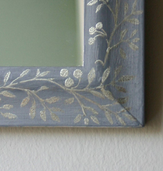 Small Gilded Mirror in SilveryCaplain Gold Leaf