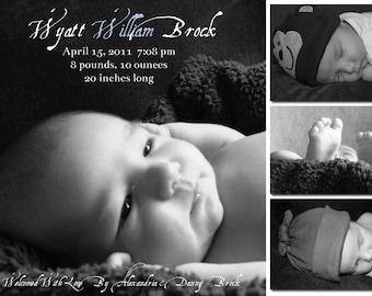 Modern Photo Birth Announcement - Wyatt