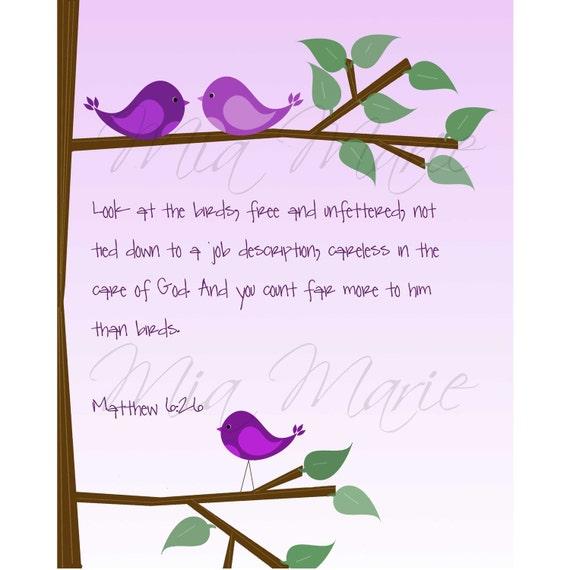 You Count Far More To Him Than Birds - Digital Printable Wall Art, 8 x 10, Customizable