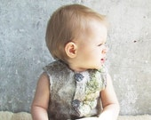 Reserved for Bowie. Felted baby vest, oatmeal ECO friendly super soft, ready to ship, 9-15m, gift idea for 1st birthday