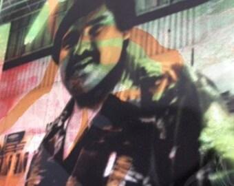 el paso / the pass - original artwork, vintage coca cola meets ciudad juarez - el paso border . jack rabbit and handshakes