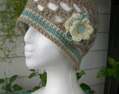 Wool Beanie with Flower
