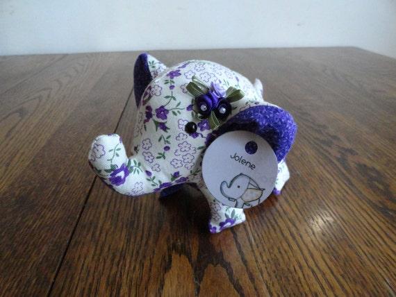 Tiny Stuffed Elephant- Jolene