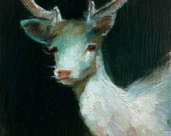 Luminous White Stag - Open Edition Print