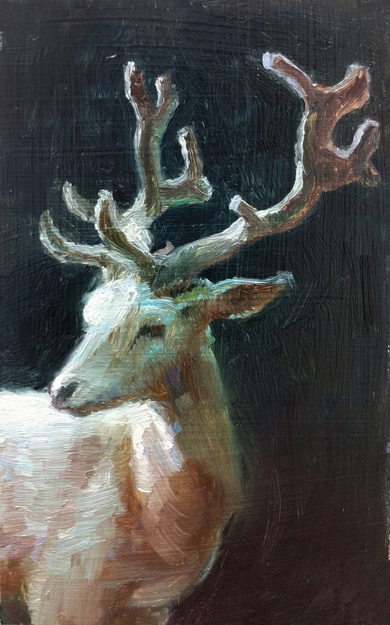 Beautiful Elegant Magical White Stag - Open Edition Print