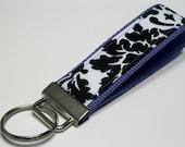 Fabric Key Fob, Key Chain, Key Ring, Key Holder, Wristlet Key Fob, Wristlet Keychain, Fabric Key fobs-Splash purple