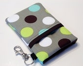 Custom fabric cell phone holder, iPhone 6 6s Plus, iPhone 7 plus, 5 5s 5c 4s 4 smartphone, wallet, case, purse, sleeve, pouch-Bubble fun