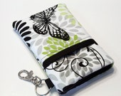 Fabric Smartphone Case, iPhone 5 Case, Iphone 4 4s Case, Iphone Case, ipod case, Teenage Girl Gift, Samsung Galaxy, HTC-Butterfly shadows