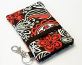 Fabric iPhone case, iPhone 4 Case, iphone Pouch, iPhone sleeve, Smart Phone Case, iPhone cover, HTC - Crazy flowers