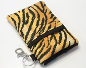 Custom fabric cell phone holder, iPhone 6 6s Plus, iPhone 7 plus, 5 5s 5c 4s 4 smartphone, wallet, case, purse, sleeve, pouch-Tiger