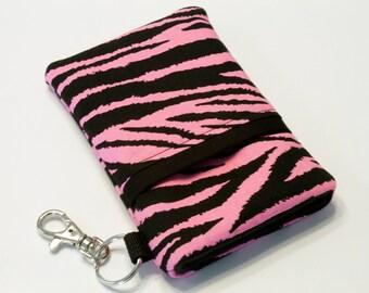iPhone 7 Plus Case, Cell Phone Pouch, iPhone Phone Case, Huawei P8 Lite Case, LG G5 Case, HTC One M7 Case, Huawei Case-Pink zebra