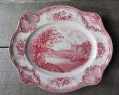 English Transferware Platter--RESERVED for Gregory
