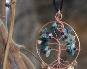 Moss Agate Tree of life Pendant - Reserved for Midnightangel50